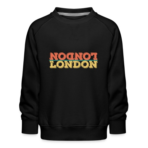 Vintage London Souvenir - Retro Upside Down London - Kinder Premium Pullover