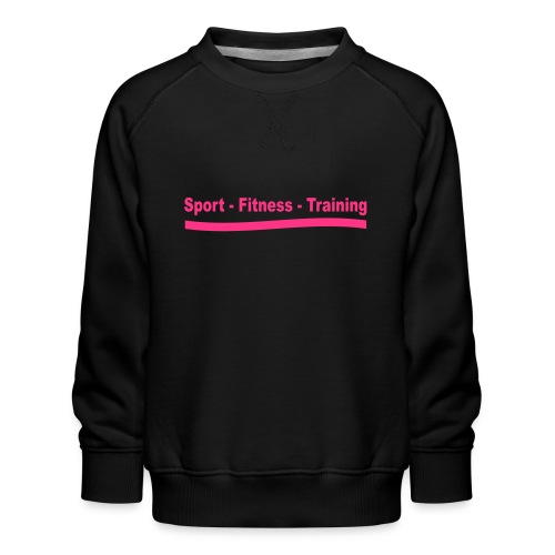 sport_fitness_training - Sweat ras-du-cou Premium Enfant