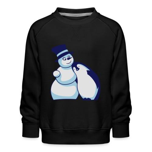 Schneemann und Pinguin - Kinder Premium Pullover
