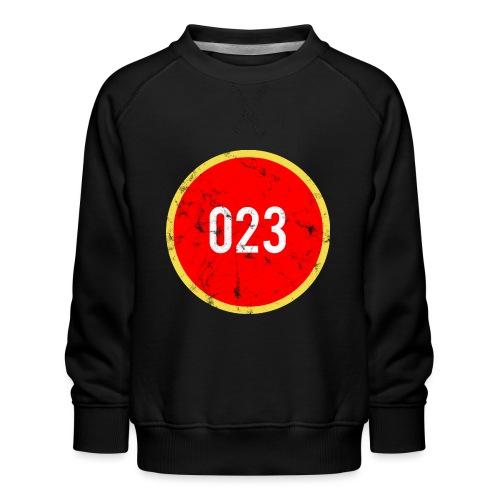 023 logo 2 washed regio Haarlem - Kinderen premium sweater