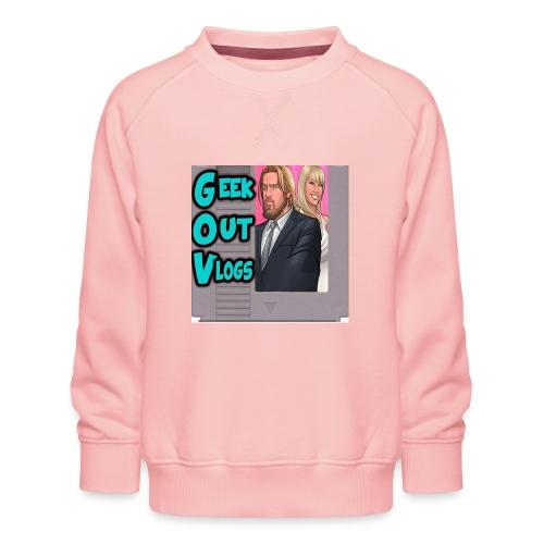 GeekOut Vlogs NES logo - Kids' Premium Sweatshirt