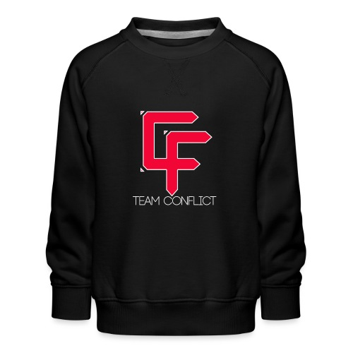 CF Final White Border t shirts with text thin whit - Kids' Premium Sweatshirt