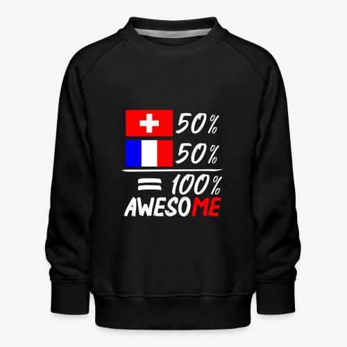 50% Schweiz 50% Frankreich - Kinder Premium Pullover