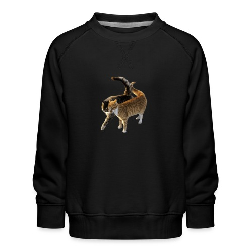 happy cats cartoon - Kids' Premium Sweatshirt