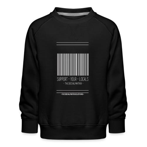 STEUN JE PLAATSELIJKE [WIT] - Kinderen premium sweater