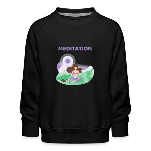Yoga Meditation - Felpa premium da bambini