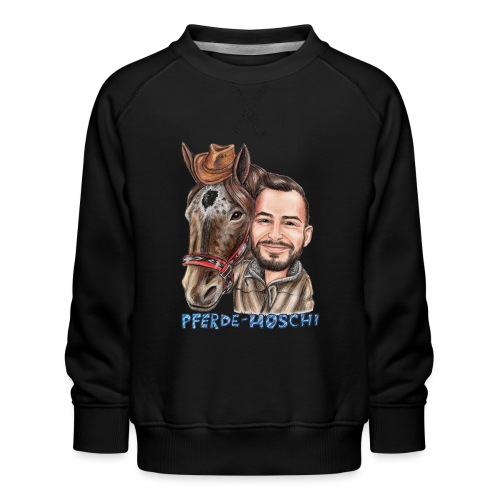 Pferde-Hoschi Kollektion hinten - Kinder Premium Pullover