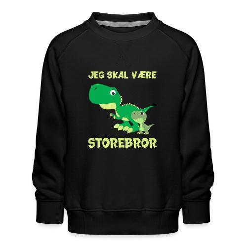Jeg skal være storebror dino dinosaur dinosaurus - Børne premium sweatshirt