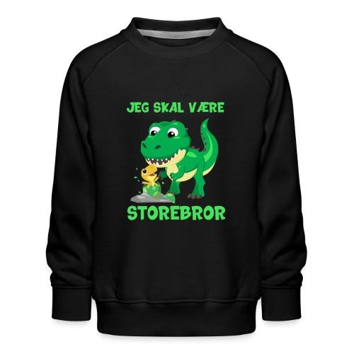 Jeg skal være storebror dinosaur gave dino - Børne premium sweatshirt