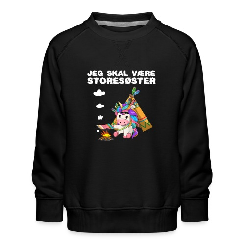 Jeg skal være storesøster enhjørning gave fødsel - Børne premium sweatshirt