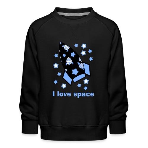I love space - Felpa premium da bambini