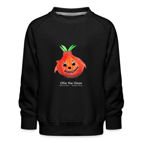 mens black T-shirt Ollie the Onion - Kids' Premium Sweatshirt