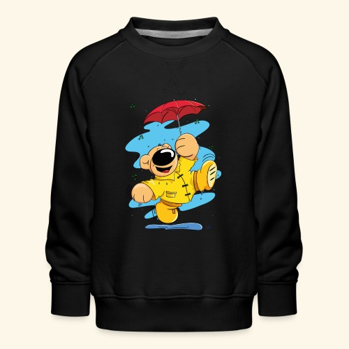 Der Bär tanzt im Regen - Kinder Premium Pullover