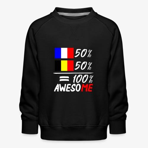 50% Frankreich 50% Belgien - Kinder Premium Pullover