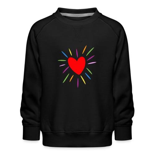 Heart - Sudadera premium para niños y niñas
