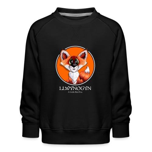 llwynogyn - a little red fox (white) - Lasten premium-collegepaita