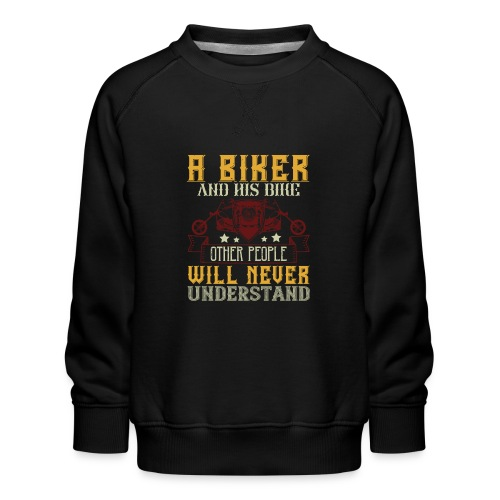 A biker and his bike. - Kids' Premium Sweatshirt