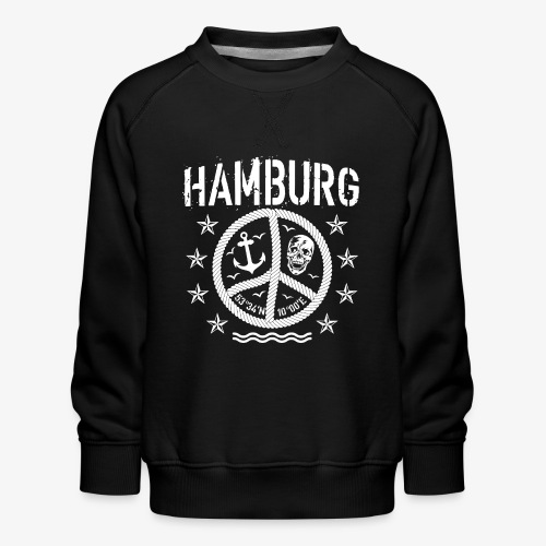 105 Hamburg Peace Anker Seil Koordinaten - Kinder Premium Pullover