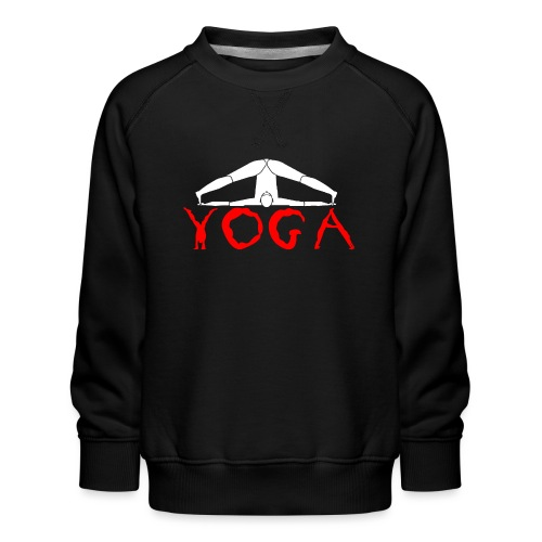 yoga yogi sport bianco namaste amore pace hippie - Felpa premium da bambini