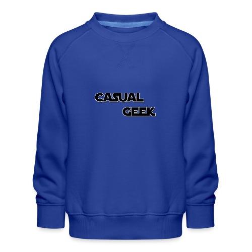 CasualGeek Standard Logo - Kids' Premium Sweatshirt