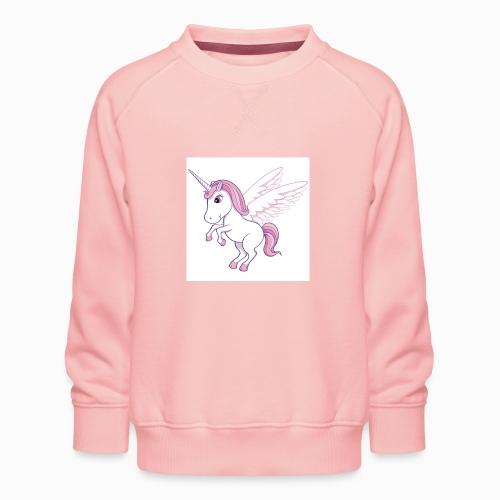 Petite licorne rose super mignonne!! - Sweat ras-du-cou Premium Enfant