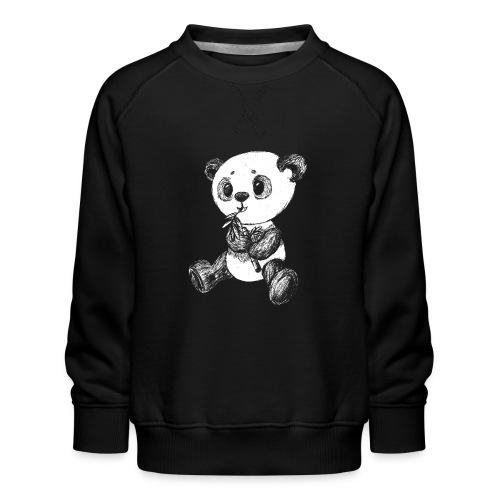 Panda Karhu valkoinen scribblesirii - Lasten premium-collegepaita