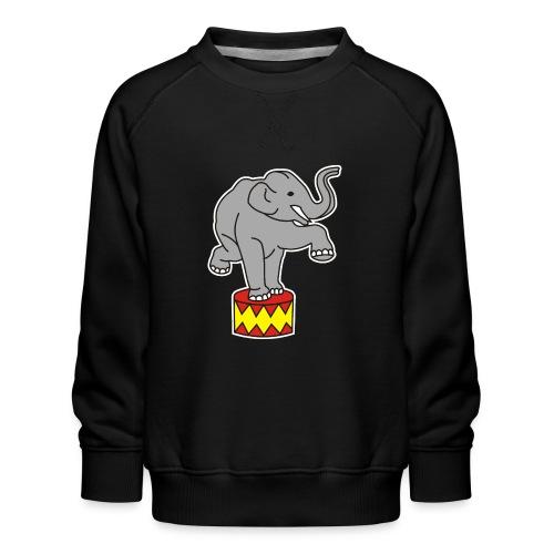 Zoo Zirkus Elefanten Circus Elephants Retro Comic - Kinder Premium Pullover