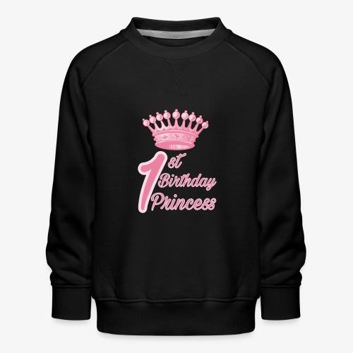 1st Birthday Princess - Felpa premium da bambini