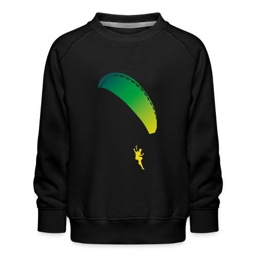 Paragliding girl rainbow - Kinder Premium Pullover