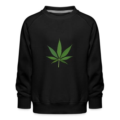 2000px-Cannabis_leaf_2 - Børne premium sweatshirt