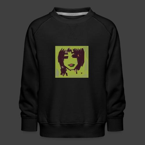 Green brown girl - Kids' Premium Sweatshirt