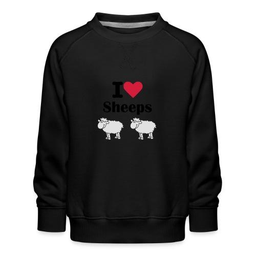 I-love-sheeps - Sweat ras-du-cou Premium Enfant