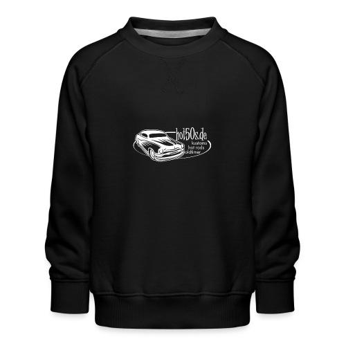 hot50s Logo weiss - Kinder Premium Pullover