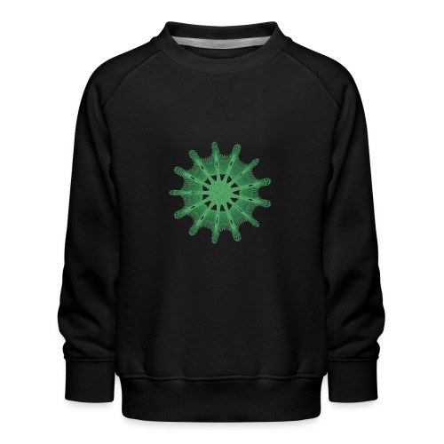 green steering wheel Green starfish 9376alg - Kids' Premium Sweatshirt