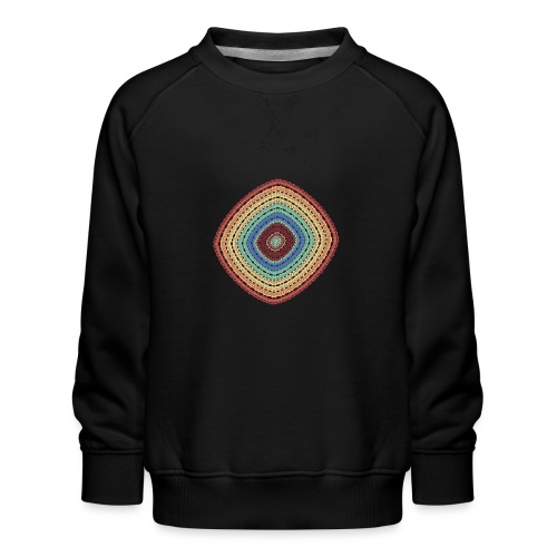 Lucky square in summery colors - Kids' Premium Sweatshirt