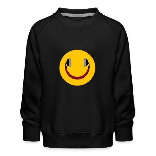 Smiling headphone - Børne premium sweatshirt