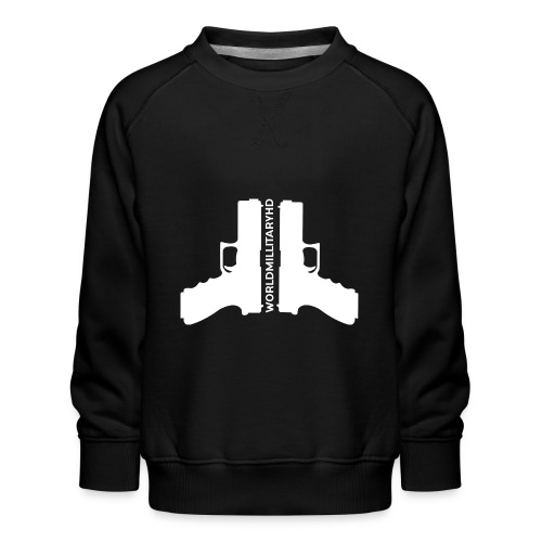 WorldMilitaryHD glock design (white) - Kinderen premium sweater