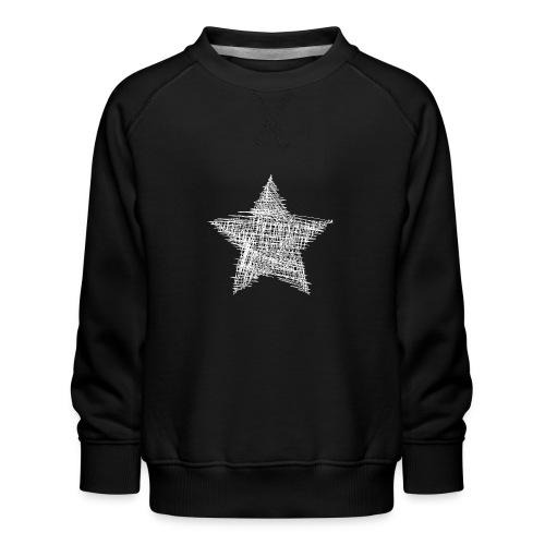 Estrella blanca - Sudadera premium para niños y niñas