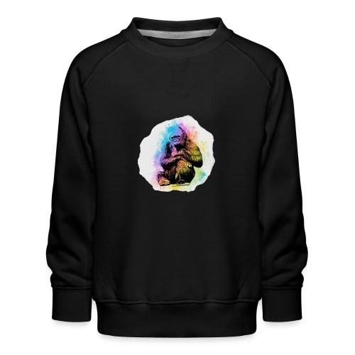 Gorilla Aquarell - Kinder Premium Pullover