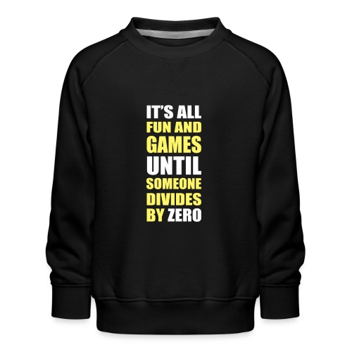 Divide by Zero - Bluza dziecięca Premium