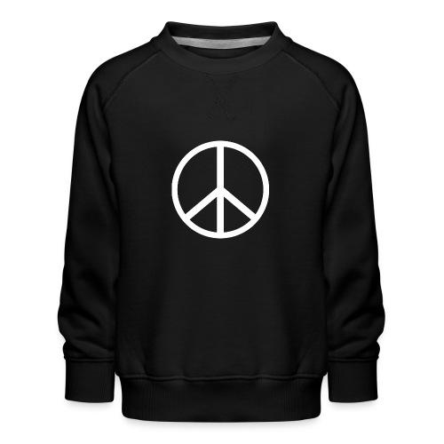 Símbolo de la paz blanco - Sudadera premium para niños y niñas