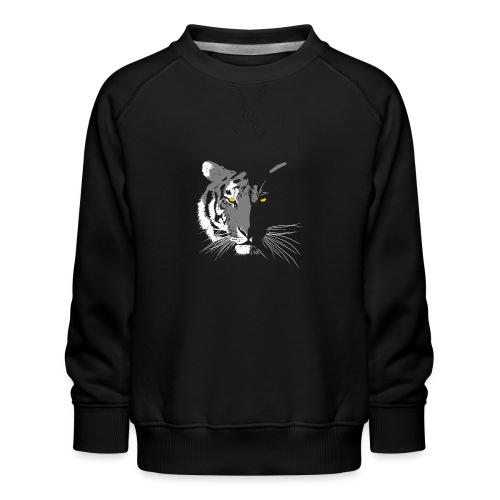 tigre blanc.png - Sweat ras-du-cou Premium Enfant