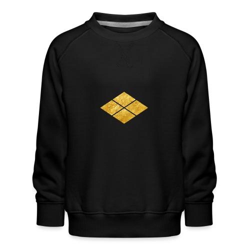 Takeda kamon Japanese samurai clan faux gold - Kids' Premium Sweatshirt