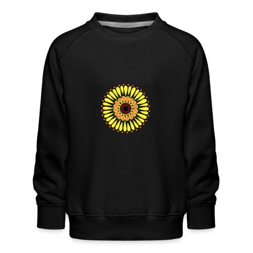Yellow Sunflower Mandala - Kids' Premium Sweatshirt