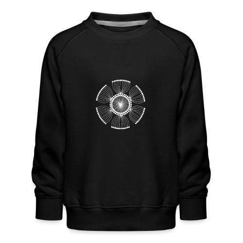 White Poppy Seed Mandala II - Kids' Premium Sweatshirt