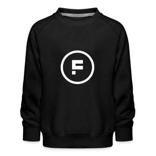 Logo Rond Wit Fotoclub - Kinderen premium sweater