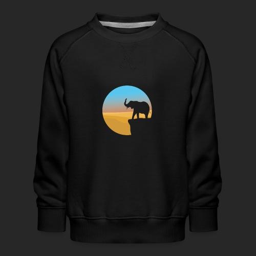 Sunset Elephant - Kids' Premium Sweatshirt