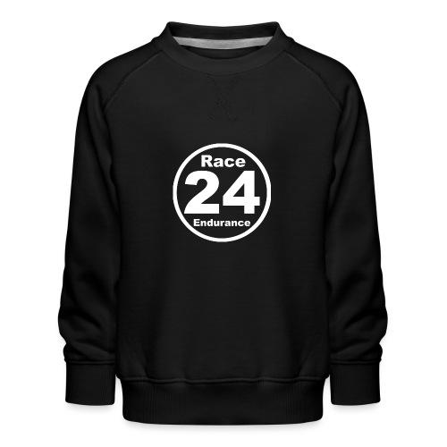 Race24 round logo white - Kids' Premium Sweatshirt