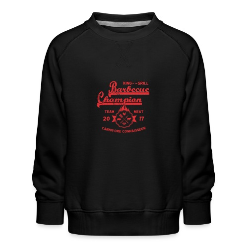 Barbecue-Champion Shirt - King of the Grill T-Shir - Kinder Premium Pullover
