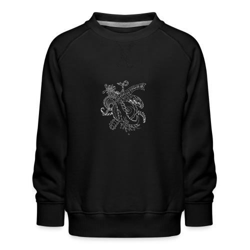 Fantasy hvid scribblesirii - Børne premium sweatshirt